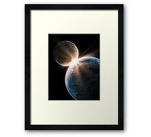 Epic Two World Collision Framed Print