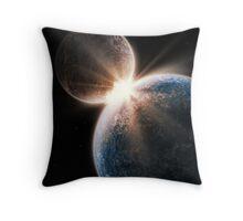 Epic Two World Collision Throw Pillow