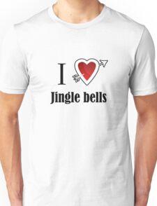 i love Jingle bells Christmas x-mas Unisex T-Shirt