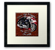Triumph Thunderbird Give Me Liberty Framed Print