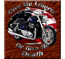 Triumph Thunderbird Give Me Liberty Photographic Print