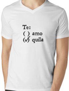 Te amo? Tequila. Mens V-Neck T-Shirt