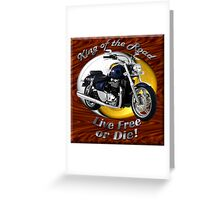 Triumph Thunderbird King Of The Road Greeting Card