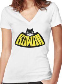 Kawaiiman Women's Fitted V-Neck T-Shirt