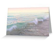 A Tear In The Ocean Greeting Card