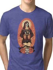 Santa Muerte Tri-blend T-Shirt