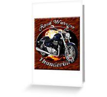 Triumph Thunderbird Road Warrior Greeting Card