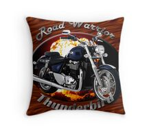 Triumph Thunderbird Road Warrior Throw Pillow