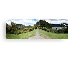 The Green and Blue Lakes Panorama Canvas Print