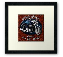 Triumph Thunderbird Night Rider Framed Print
