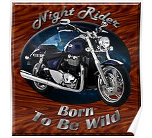 Triumph Thunderbird Night Rider Poster