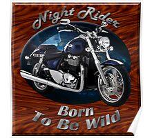 Triumph Thunderbird Night Rider Poster