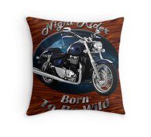 Triumph Thunderbird Night Rider Throw Pillow