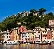 Portofino Panorama by Lewis Gardner Photography