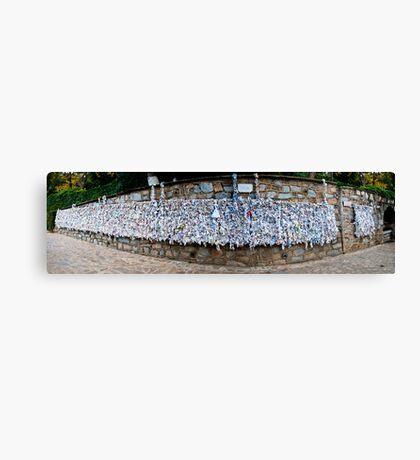The Wishing Wall Panorama Canvas Print