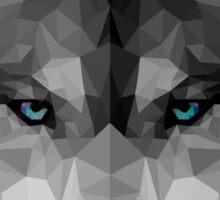 Polygon Wolf Sticker