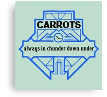 Carrots - Always in Chunder Down Under Canvas Print
