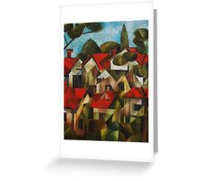 Houses and Trees Greeting Card
