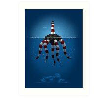 Lighthouse Monster Art Print