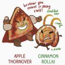 Apple Thornover & Cinnamon Rollki by derlaine