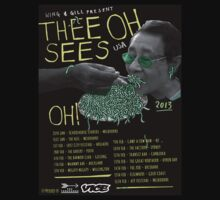 Thee Oh Sees 2013 Australian Tour Poster by TISM