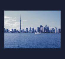 CN Tower Skyline Blue One Piece - Long Sleeve