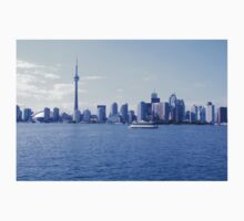 CN Tower Skyline Blue Baby Tee