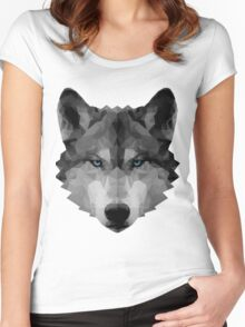 Polygon Wolf Women's Fitted Scoop T-Shirt