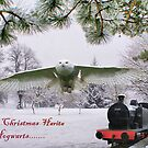 Happy Christmas Harita from Hogwarts Greetings Card by Sandra Cockayne