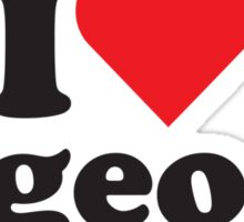 I Heart Love Pigeons Sticker