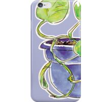 Purple Philodendron iPhone Case/Skin