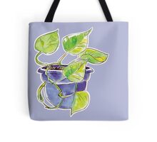 Purple Philodendron Tote Bag