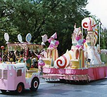No.2, Candy Cane float 1980's Adelaide Christmas Pageant by Heather Dart