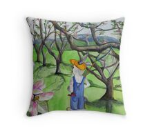 May-Catching Sheep Throw Pillow