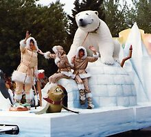 No.3, Polar Bear float 1980's Adelaide Christmas Pageant by Heather Dart