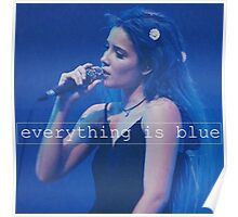 Halsey - everything is blue. Poster