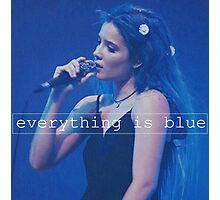 Halsey - everything is blue. Photographic Print