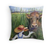 June-Tall Grass Throw Pillow