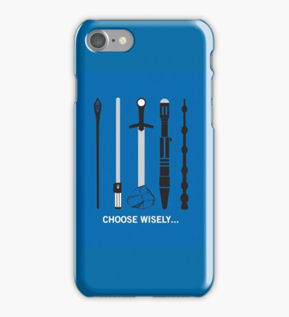 Choose Wisely Fandom Weapons iPhone Case/Skin