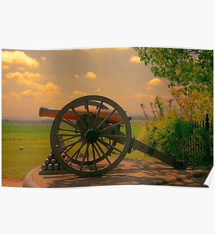 Civil War Cannon at Gettysburg Poster