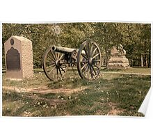 Civil War Historic Cannon at Gettysburg Poster