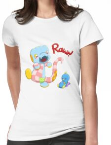 Rawr! Plush Womens Fitted T-Shirt