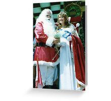 No 9 Santa and Pageant Princess Christmas Adelaide 1980's Greeting Card