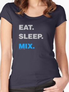 Eat Sleep Mix Women's Fitted Scoop T-Shirt