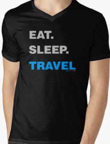 Eat Sleep Travel Mens V-Neck T-Shirt