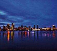 Downtown San Diego, CA @ Night by Jack Daniel Ciallella