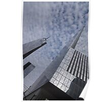 Fascinated with Manhattan - Sky, Glass and Skyscrapers Poster