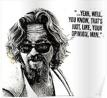 The Dude Quote Poster