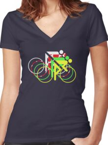 Riders Tour de France Jerseys  Women's Fitted V-Neck T-Shirt
