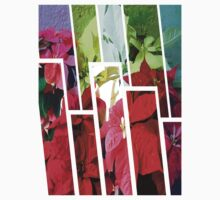 Mixed color Poinsettias 3 Tinted 1 Baby Tee